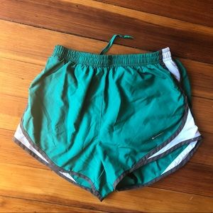 Nike green white tempo shorts XS women's